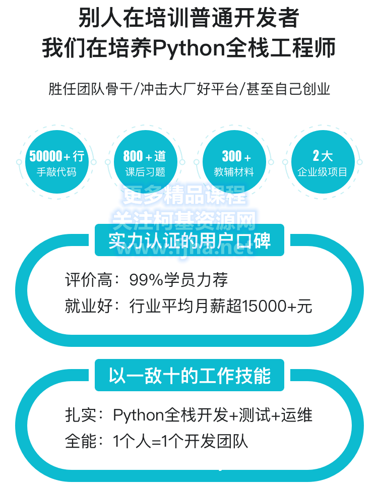 慕课网:Python全栈工程师