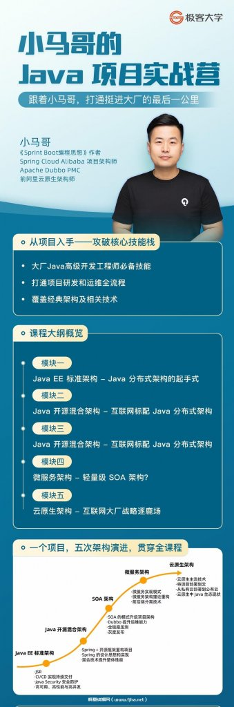 极客大学:小马哥的 Java 项目实战营